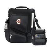 Momentum Black Computer Messenger Bag-Official Logo - C Charleston