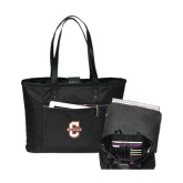 Stella Black Computer Tote-Official Logo - C Charleston