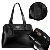 Kenneth Cole Classy Black Ladies Computer Tote-Debossed