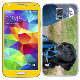 Galaxy S5 Skin-Dog with Leash