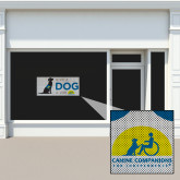 2 ft x 10.15 inches Perforated Window Decal-Give a Dog a Job