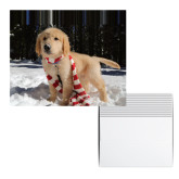 Golden Puppy with Scarf Holiday Cards 12/pkg-