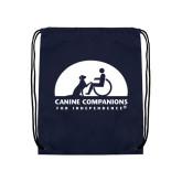Nylon Navy Drawstring Backpack-