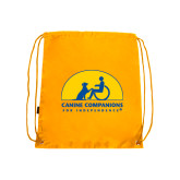 Nylon Gold Drawstring Backpack-
