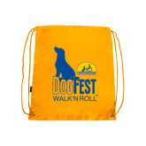 Gold Drawstring Backpack-Dog Fest Tall
