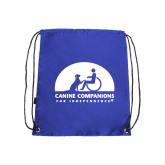 Nylon Royal Drawstring Backpack-