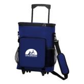 30 Can Blue Rolling Cooler Bag-