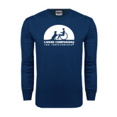 Navy Long Sleeve T Shirt-