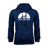 Navy Fleece Hood-