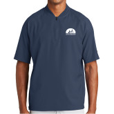 New Era Navy Cage Short Sleeve 1/4 Zip-