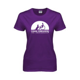 Ladies Purple T Shirt-