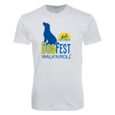 Next Level SoftStyle White T Shirt-Dog Fest Tall