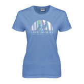 Ladies Arctic Blue T Shirt-Foil