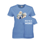 Ladies Arctic Blue T Shirt-Two Puppies