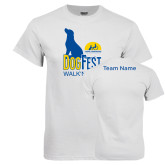 White T Shirt-Dog Fest Tall