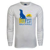 White Long Sleeve T Shirt-Dog Fest Tall