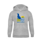 Youth Grey Fleece Hood-Dog Fest Tall