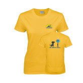 Ladies Gold T Shirt-