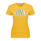 Ladies Gold T Shirt-Foil
