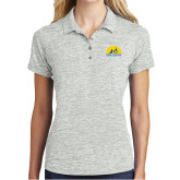 Ladies Silver Electric Heather Polo-