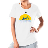 Ladies Under Armour White Charged Cotton Tee-