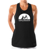 Ladies Under Armour Black Pinhole Tank-