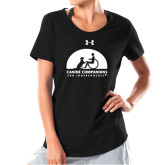 Ladies Under Armour Black Charged Cotton Tee-