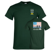 Dark Green T Shirt-One Team Two Heroes Stacked