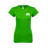 Next Level Ladies SoftStyle Junior Fitted Kelly Green Tee-