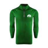 Under Armour Dark Green Tech 1/4 Zip Performance Shirt-