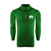Under Armour Dark Green Tech 1/4 Zip Performance Shirt-