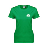 Ladies Kelly Green T Shirt-