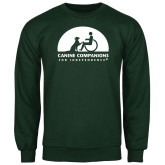 Dark Green Fleece Crew-