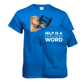 Royal Blue T Shirt-Dog Sleeping