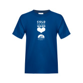 Youth Royal Blue T Shirt-Cold Nose Warm Hearts Baylor Scott and White