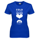 Ladies Royal T Shirt-Cold Nose Warm Hearts Baylor Scott and White