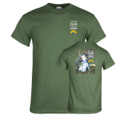 Military Green T Shirt-One Team Two Heroes Stacked