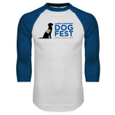 White/Royal Raglan Baseball T Shirt-DOGFEST stacked