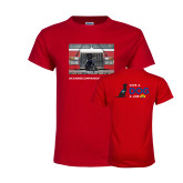 Youth Red T Shirt-Canine Companions Strong