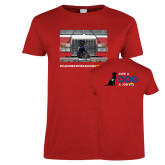 Ladies Red T Shirt-Canine Companions Strong