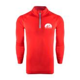 Under Armour Red Tech 1/4 Zip Performance Shirt-