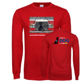 Red Long Sleeve T Shirt-Canine Companions Strong