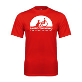 Syntrel Performance Red Tee-