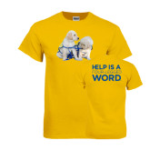 Gold T Shirt-Two Puppies