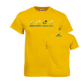 Gold T Shirt-Cartoon Puppies