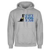 Grey Fleece Hoodie-Give a Dog a Job