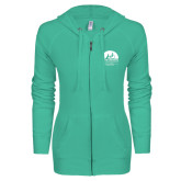 ENZA Ladies Seaglass Light Weight Fleece Full Zip Hoodie-Kinkeade Campus