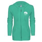 ENZA Ladies Seaglass Light Weight Fleece Full Zip Hoodie-Kinkeade Campus