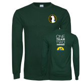 Dark Green Long Sleeve T Shirt-Veterans Initiative
