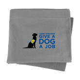 Grey Sweatshirt Blanket-Give a Dog a Job